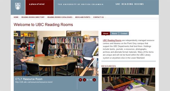 UBC-Reading-Rooms-Website-Screenshot