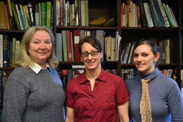 From left to right: Kathy Nomme, Pamela Kalas and Natalie Schimpf